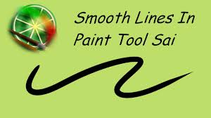 smooth lines in paint tool sai tutorial youtube