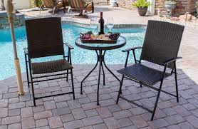 Bistro Patio Table Patio Set Outdoor Wicker Bistro Garden Outdoor