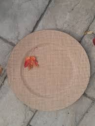 Wicker Paper Plate Holders Wholesale Set Of 6 Burlap Charger Plates Chargers Tableware Plate Bride