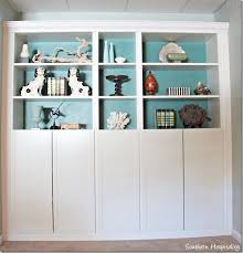 Built In Bookcase Kits Part 2 Building In Ikea Billy Bookcases With Molding Southern