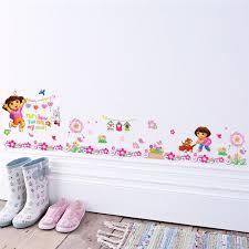 dessin mural chambre fille mur de dessin animé autocollants pour chambres d enfants