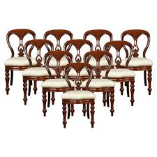 set of ten mahogany victorian dining chairs for sale at 1stdibs