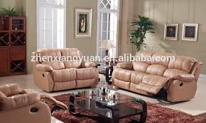 2016 living room products leather sofa double recliner sofa with