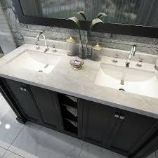 50 inch double sink vanity 60 bathroom vanity with top elegant sassy in white marble carrara