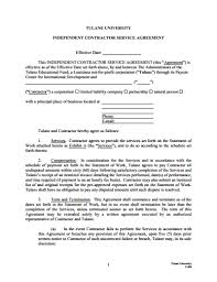independent contractor agreement template free download create