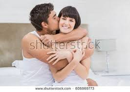Fun In The Bedroom Young Beautiful Couple Making Love Bed Stock Photo 89835448