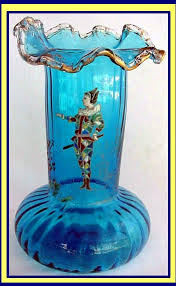 Turquoise Glass Vase Antiques Com Classifieds Antiques Antique Glass Antique