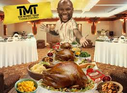 floyd mayweather my thanksgiving weigh in 100lbs of turkey