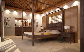 Canopy Bed Frame Design Tropical Mahogany Canopy Bed