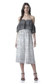 strapless wide leg jumpsuit shoulder wide leg jumpsuit in geo print come shop with