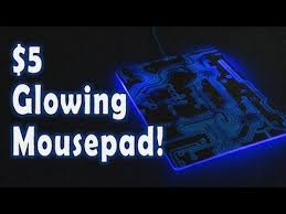 light up gaming mouse pad 5 glowing mousepad youtube