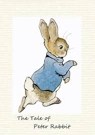 rabbit poster beatrix potter rabbit poster picture print photo wall decor