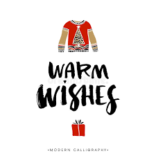 warm wishes calligraphy stock vector illustration of
