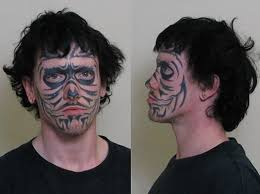 face tattoo picures images page 17