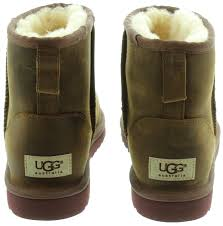 womens boots ugg uk ugg mini leather boots in chestnut in chestnut