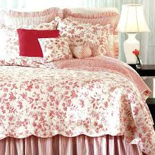 French Toile Bedding Red Toile Queen Sheets Red And White Floral Toile Bedding Red And