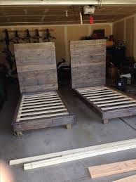 Build A Wooden Platform Bed by Best 25 Diy Twin Bed Frame Ideas On Pinterest Twin Platform Bed