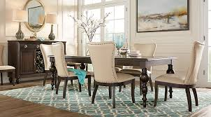 rooms to go dining sets westerleigh oak 5 pc rectangle dining room dining room sets