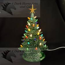 vintage ceramic christmas tree 11 inches