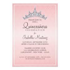 quinceanera invitations glam tiara quinceanera celebration invitation zazzle