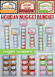 printable hershey nugget wrappers for the holidays halloween