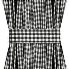 Black Check Curtains Black Gingham Door Curtain Panels Available In Many Lengths