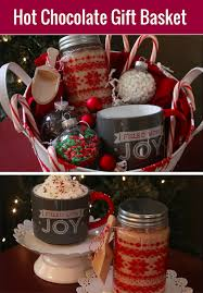 hot chocolate gift basket hot cocoa gift basket with cocoa mix holidays