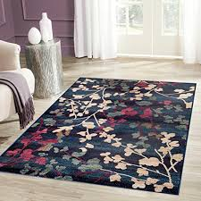 Navy Area Rug Contemporary Floral Navy Area Rug 7 10 X 10 2 Area Rugs Shop