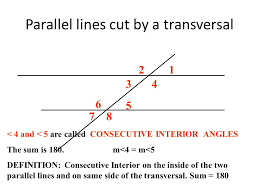 Same Side Interior Definition Parallel Lines Cut By A Transversal Ppt Video Online Download
