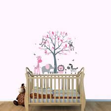 baby room wall decals animals safari animal wall stickers baby amazoncom fabric wall decals animal decal elephant monkey giraffe decal pink and gray baby