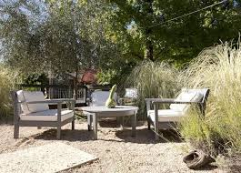 Backyard Pebble Gravel Low Cost Luxe 9 Pea Gravel Patio Ideas To Steal Gardenista