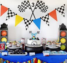 cing birthday party kara s party ideas maverick s speedy race car birthday party