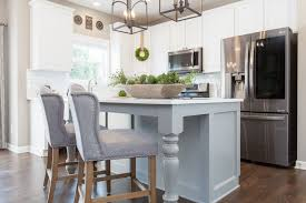 green kitchen cabinets with white island remodelaholic grey and white kitchen cabinet ideas