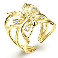 butterfly rings gold images Big hollow butterfly rings for women jewelry 24k gold colour jpg