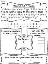 start unknown subtraction word problems worksheets for start