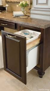 built in trash can cabinet built in trash cans for the kitchen dytron home