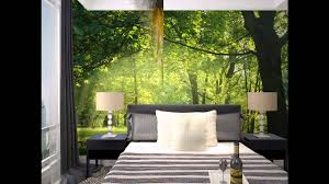 forest room wallpaper decor ideas youtube