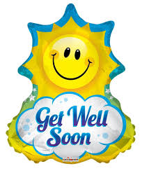 get well soon and balloons cheery 28 get well soon sun shape mylar foil balloon balloon