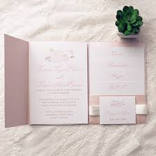 wedding invitation kits cheap pink flower pocket wedding invitation kits ewpi142 as