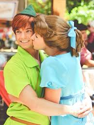 wendy and peter pan face characters in disneyland pinterest