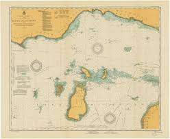 Map Of Michigan Lakes Print Of Beaver Island Group Including North Shore Of Lake