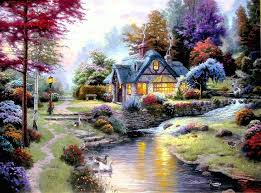 496 best kinkade images on kinkade paintings