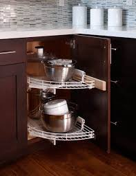kitchen corner cupboard rotating shelf 8 ingenious organizing ideas for corner cabinets corner