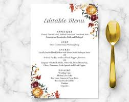 Buffet Menu For Wedding by Wedding Buffet Menu Cards Floral Diy Template Wedding Dinner