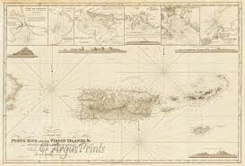 Map Of The Virgin Islands Porto Puerto Rico British And Us Virgin Islands Danish West Indies