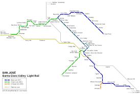 san jose light rail map urbanrail net usa san josé light rail