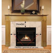 budget mdf fireplace mantel surround brick anew