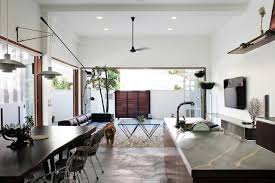 Home Lighting Design In Singapore by A 60 Year Old Terrace House Gets A Renovation Design Milk