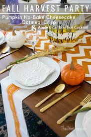 tablescape idea fall harvest party idea