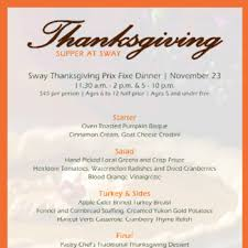 spend your thanksgiving with sway at the hyatt regency atlanta at